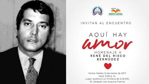 Invitación al Encuentro Aqui hay amor, Homenaje a René del Risco Bermúdez