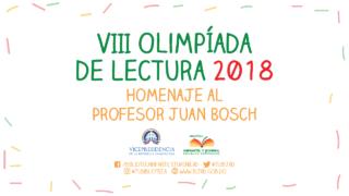 La Vicepresidencia de la República y la Biblioteca Infantil y Juvenil República Dominicana (BIJRD) convocan a participar en el VIII Concurso Olimpíada de Lectura en homenaje al profesor Juan Bosch.