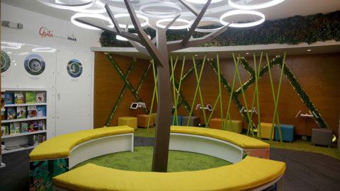 El Parque Greta fue construido en el 2016 con el auspicio de la Fundación Propagas y está inspirado en la naturaleza. El espacio fomenta el encuentro ciudadano a través de la educación lúdica, la cultura y la inclusión social.